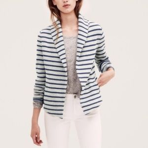 LOFT Lou &Grey Womens Striped Sweatshirt Cardigan
